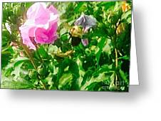 Bumble Bee In Mid Flight Greeting Card