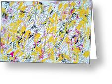 Bumble Bees Against The Windshield - V1vc100 Greeting Card