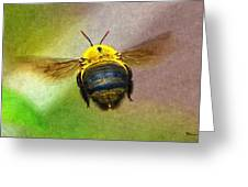Bumblebees Flight Greeting Card