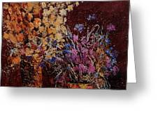 Bunch Of Dried Flowers  Greeting Card