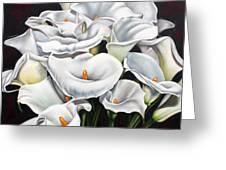 Bunch Of Lilies Greeting Card by Ilse Kleyn