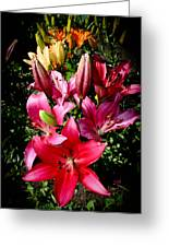 Bunch Of Lily Greeting Card