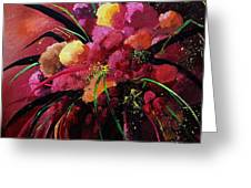 Bunch Of Red Flowers Greeting Card