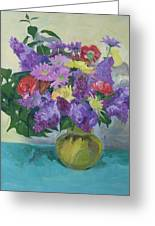 Bunch Of Spring Flowers Greeting Card