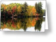Bunganut Lake Maine Foliage 10 2016 Greeting Card