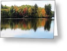 Bunganut Lake Maine Foliage 11 2016 Greeting Card