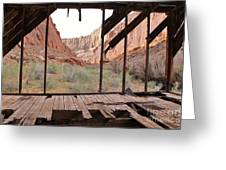 Bunkhouse View 4 Greeting Card