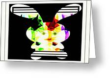Bunny In Abstract Greeting Card
