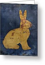 Bunny In Blue Greeting Card