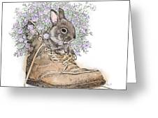 Bunny In Boot Greeting Card