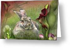 Bunny In The Lilies Greeting Card