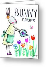 Bunny Nature Greeting Card