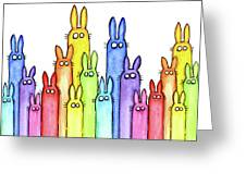 Bunny Rainbow Pattern Greeting Card