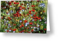 Bunte Sommerwiese Greeting Card