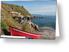 Bunty In Priest's Cove Cape Cornwall Greeting Card