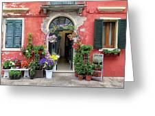 Burano Flower Shop Greeting Card