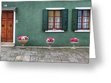 Burano Green Greeting Card