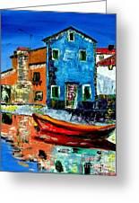 Burano Reflections Greeting Card