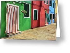 Burano Street Greeting Card