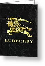 Burberry - Black And Gold - Lifestyle And Fashion Greeting Card