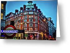 Burberry - London Underground Greeting Card