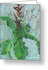 Burdock Leaves  Greeting Card