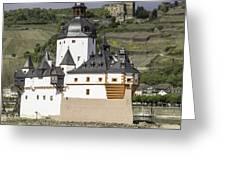 Burg Pfalzgrafenstein And Burg Gutenfals Squared Greeting Card