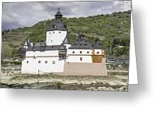 Burg Pfalzgrafenstein In Kaub Germany Greeting Card