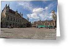 Burg Square In Bruges Belgium Greeting Card