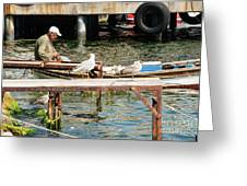 Burgazada Island Fisherman Greeting Card