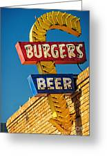 Burgers And Beer Greeting Card