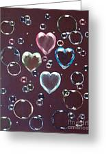 Burgundy Bubbles Greeting Card