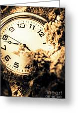 Buried By The Hands Of Time Greeting Card