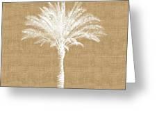 Burlap Palm Tree- Art By Linda Woods Greeting Card
