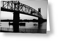 Burlington Bristol Bridge  Greeting Card by D R TeesT