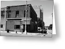 Burlington, Nc - Main Street And Front Greeting Card