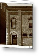 Burlington North Carolina - Arches And Alley Sepia Greeting Card