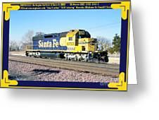 Burlington Northern Santa Fe Bnsf Greeting Card