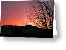 Burlington Sunrise Greeting Card