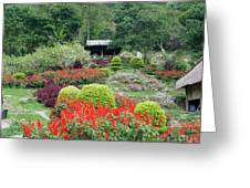 Burma Village Garden Greeting Card