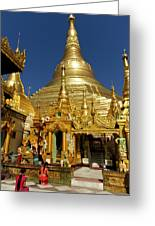 Burma's Golden Pagoda Greeting Card