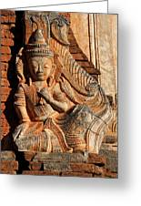 Burmese Pagoda Sculpture Greeting Card