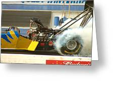 Burn Out On The Track Greeting Card