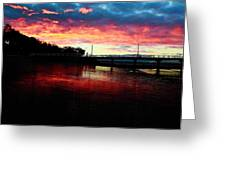 Burn Sunset Greeting Card
