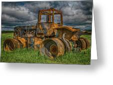Burned Out Farm Tractor Greeting Card