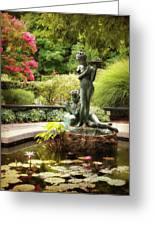 Burnett Fountain Garden Greeting Card