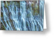 Burney Falls Detail Greeting Card