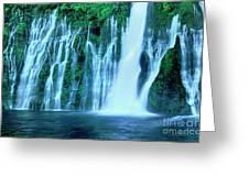 Burney Falls Mcarthur Burney State Park California Greeting Card
