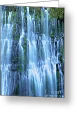 Burney Falls Mist Mcarthur Burney Sp California  Greeting Card