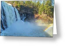 Burney Falls Wide View Greeting Card